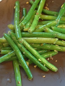 Lemon Green Beans fresh from the pan.