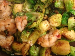 Lobster with Caramelized Brussel Sprouts